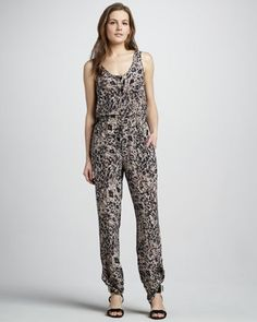Printed Silk Jumpsuit by Rachel Zoe at Neiman Marcus.  I need a jumpsuit and tempers in my life!!