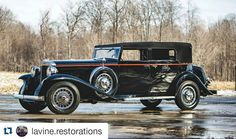 #Repost a photo of mine from @lavine.restorations  LaVine Restorations restored this 1931 Marmon Sixteen Convertible Sedan over 27 years ago and it still looks brand new.  Featuring an all-aluminum 491 cu. in. overhead valve V-16 #engine making 200hp coupled to a 3-speed manual synchromesh transmission the Marmon Sixteen was easily capable of speeds in excess of 100 mph.  Check back for more shots and information on the car which will be on display at the Amelia Island Concours d'Elegance…