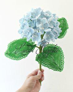 French beaded Hydrangea by Lauren Harpster