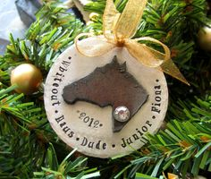 Personalized Horse Ornament-Hand Stamped Ornament-Horse Lover Christmas Gift. $29.00, via Etsy.