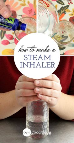 Feeling stuffed up and congested? Get quick relief naturally! This simple steam inhaler jar with essential oils will have you breathing easier in no time.