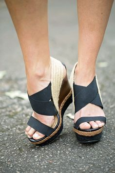 That doesn't absolutely adore cute wedges?, view our great choice of zip-back and strap wedges for any situation! Shoes Heels Wedges, Wedge Shoes, Flats, Wedge Wedding Shoes, Summer Wedges, Cute Wedges, Ladies Dress Design, Passion For Fashion, Me Too Shoes