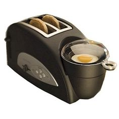 Wish I'd had this!  Back to Basics TEM500 Egg-and-Muffin 2-Slice Toaster and Egg Poacher