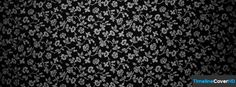 Black And White Flower Pattern Facebook Cover Timeline Banner For Fb33 Facebook Cover
