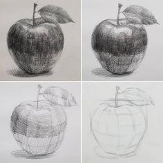 Shading Drawing, Contour Drawing, Painting & Drawing, Art Drawings Sketches Simple, Pencil Art Drawings, Realistic Drawings, Drawing Ideas, Basic Sketching, Basic Drawing