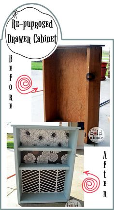 Repurpose a Vintage Drawer (like this $1 drawer from the ReStore) and turn it into Bathroom Storage! (Love it! Gotta do this!)