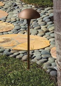 Cast lightings bronze foundry pouring molten bronze into sand cast classic large mushroom areapath light pathway lightingpath lightsoutdoor workwithnaturefo
