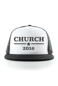 These Church 2016 snapback hats are the best way to rock the vote! And especially perfect for country concerts and festivals like Stagecoach, CMA Fest, Country Thunder and more! Also available in Strait 2016 and Underwood 2016!