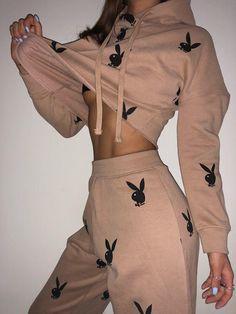 B*tch i'm back, by popular demand ⚠️💎shop Caitlin Heath's 'playboy x miss. Boujee Outfits, Cute Lazy Outfits, Cute Swag Outfits, Sporty Outfits, Teen Fashion Outfits, Stylish Outfits, Sporty Fashion, Mod Fashion, Sporty Chic
