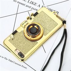 Vintage Camera Phone Case For iPhone 7, 7 Plus, 6, 6s, Cool 3D Novelty with Convenient Long Strap