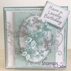 Chloes Creative Cards, Stamps By Chloe, Crafters Companion Cards, Handmade Birthday Cards, Pretty Cards, Flower Cards, Diy Cards, Homemade Cards, Making Ideas