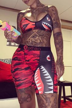Dope Tattoos For Women, Black Girls With Tattoos, Shoulder Tattoos For Women, Swag Outfits, Girl Outfits, Cute Outfits, Fashion Outfits, Womens Fashion, Body Tattoos
