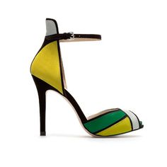 Love these, especially the color!  (ANKLE STRAP SANDAL from Zara)