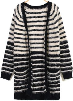 Black Apricot Long Sleeve Striped Cardigan 27.67