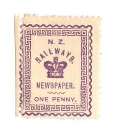 NEW ZEALAND 1890 Railways Newspapers 1d Violet. Hinge remains. - 74185 - Mint - NZ Fiscals Railway Charges - New Zealand Stamps - NEW ZEALAND - EASTAMPS