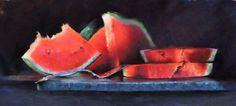 Melonscape  Pastel on Pastel Premier paper by Trish Acres