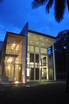 This project presented to us by architect Channa Horombuwa is a conversion of a half-way completed ordinary-searching property in Dompe, Sri Lanka into a modern Sri Lanka, Spanish Style Bathrooms, Modern Home Interior Design, Contemporary Design, Modern Windows, Window Design, White Houses, Elegant Homes, Pool Houses