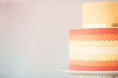 Yellow, Orange, and Red Ombre Wedding Cake / Honey Crumb Cake Studio / Alante Photography / via StyleUnveiled.com