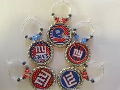 Football Party wine charms and decorations..pick your team