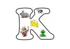 * Letterpuzzel - Letter K Letter School, 2 Letter, Blue Jay, Alphabet, Teaching, Education, English, Letters, Alpha Bet