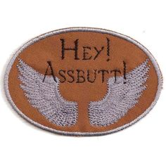 Supernatural, Castiel, Hey Assbutt Patch ($9) ❤ liked on Polyvore featuring accessories, supernatural, patches, random and craig