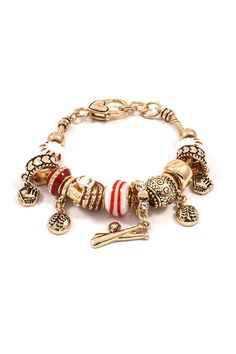 Play Ball Bracelet in Gold on Emma Stine Limited
