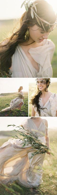 grecian bride styling: kelly oshiro photo: jose villa dress: samuelle couture sbchic.com: