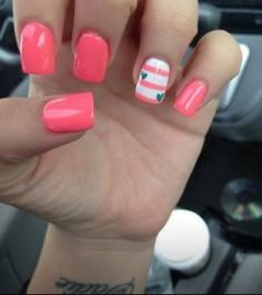 nails Simple but cute!