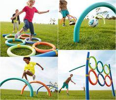 Diy pool noodle diy summer outdoor games for kids adults more. Outdoor Games For Kids, Indoor Activities For Kids, Party Activities, Summer Activities, Outdoor Fun, Party Games, Diy Games, Family Activities, Outdoor Activities