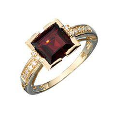 Dreambase Damen-Ring 1 Granat 14 Karat (585) Gelbgold 12 Diamant 0.08 ct. 56 (17.8) von Dreambase, http://www.amazon.de/dp/B00AEEGRU4/ref=cm_sw_r_pi_dp_tq..qb0XDC1HJ