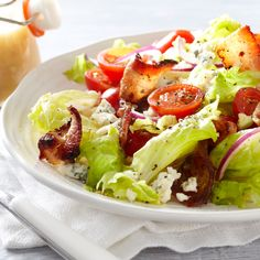 Bacon and blue cheese taste delicous on a salad, especially in this #recipe! #PCSummer