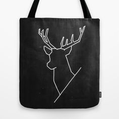 Geometric Deer - tote bag