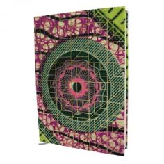 beautiful notebook with african wax print