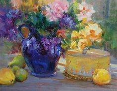 "Daily Paintworks - ""Birthday Cake"" - Original Fine Art for Sale - © Mary Maxam"