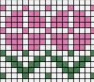 Fair Isle Knitting Patterns, Bead Loom Patterns, Knitting Charts, Mosaic Patterns, Knitting Socks, Knitting Stitches, Beading Patterns, Baby Knitting, Flower Chart