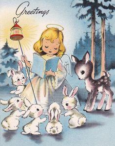 Vintage Christmas Images, Retro Christmas, Christmas Pictures, Christmas Art, Vintage Greeting Cards, Vintage Postcards, Christian Christmas, Decoupage Vintage, Christmas Illustration