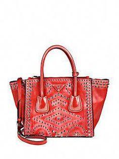 f0fff114b296 Prada - Vitello Vintage Embellished Tote  Pradahandbags Prada Handbags