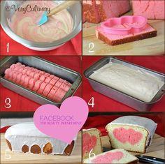 step by step heart cake