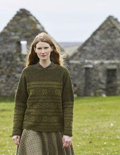 Жаккардовый пуловер Whalsay из новой коллекции Мэри Уоллин