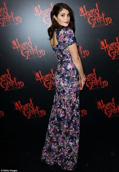 Gemma Arterton looks simply bewitching in a printed silk dress at premier of new film about Hansel and Gretel | Mail Online
