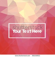 Low poly colorful abstract. triangular style. - stock vector