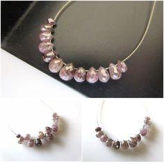 PINK DIAMOND BRIOLETTE BEADS only on Gems Diamonds By SHIKHA 😍😍😍