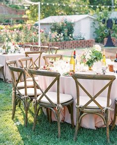 There's nothing like an at-home reception! | Photography: @kristinaadamsphoto | Coordination + Event & Floral Design: @honeycombaffair | Invitations: @apdesignco | Linens: @latavolalinen | Bridesmaids' Pajamas: @plumprettysugar | Rentals: @premiere_rents
