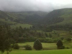 mist rolling down drakensburgh mountains,,,,,,,