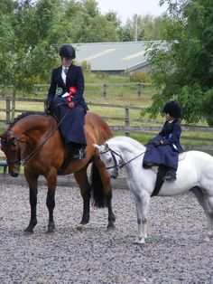 Like mother, like daughter. A lot of work+ effort=achievements goes with horses...