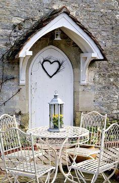 Clever Ideas for a Super Organized Garage Cottage Porch, Cottage Exterior, Cottage Style, Front Door Canopy, Porch Canopy, Front Door Design, Front Door Decor, Front Doors, English Country Cottages