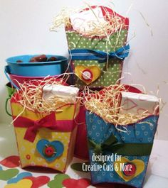 French Fry Boxes used as Valentine Treat Holders, created by Steph Zerbe - CC&M DT Alumni