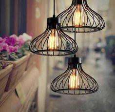 lampara vintage industrial jaula antigua onion shape luxury -------1 899 Ixtap