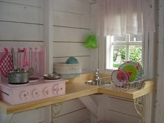 cute #shabby #playhouse #kitchen