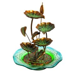 Found it at Wayfair - Metal Lilly Pad Fountain